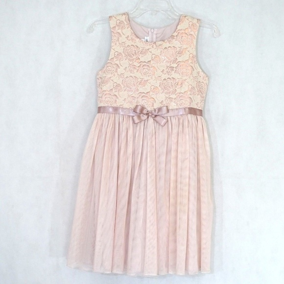 6ba668dac2f Bonnie Jean Full Skirt Dress Girls Size 14 Pink